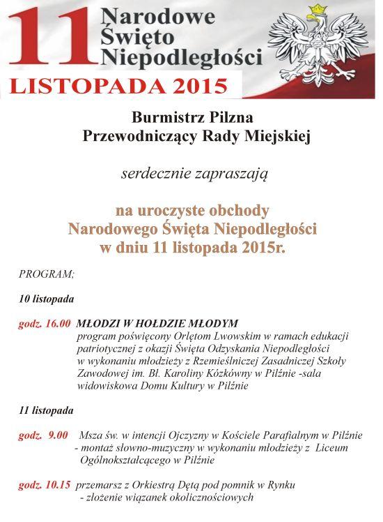 Uroczyste obchody Narodowego Święta Niepodległości 2015