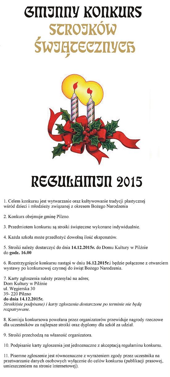 Gminny Konkurs Stroików Świątecznych 2015